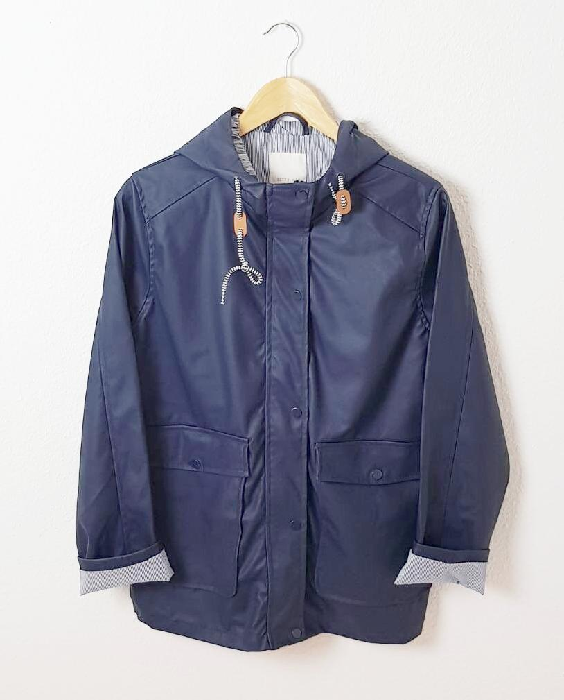 Navy Waterproof Mac Jacket