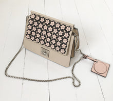 Nude Floral Shoulder Bag by Catherine Malandrino