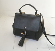Black Tassel Satchel Bag with removeable