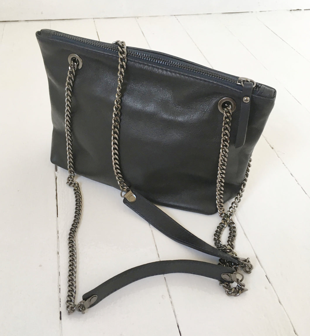 Navy Leather Bag by Bling Berlin