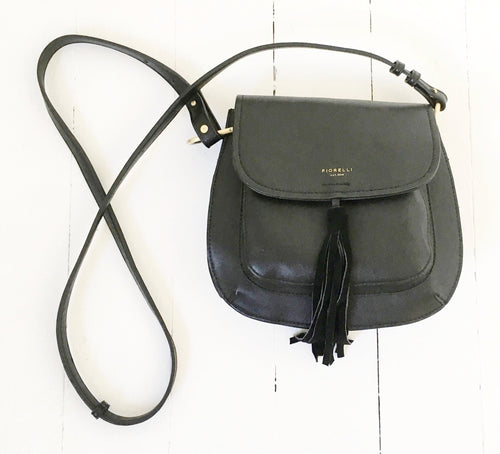 Black Tassel Shoulder Bag by Fiorelli