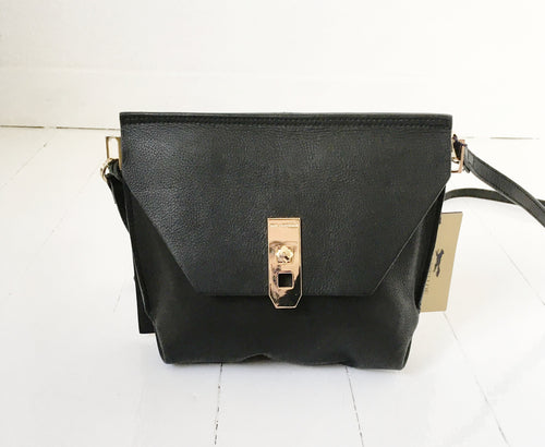 Cross Over Leather Bag by Paul Costelloe