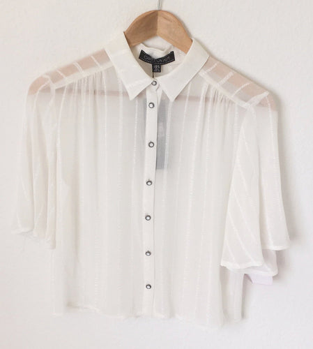 Cream Vintage Blouse by Girls On Film