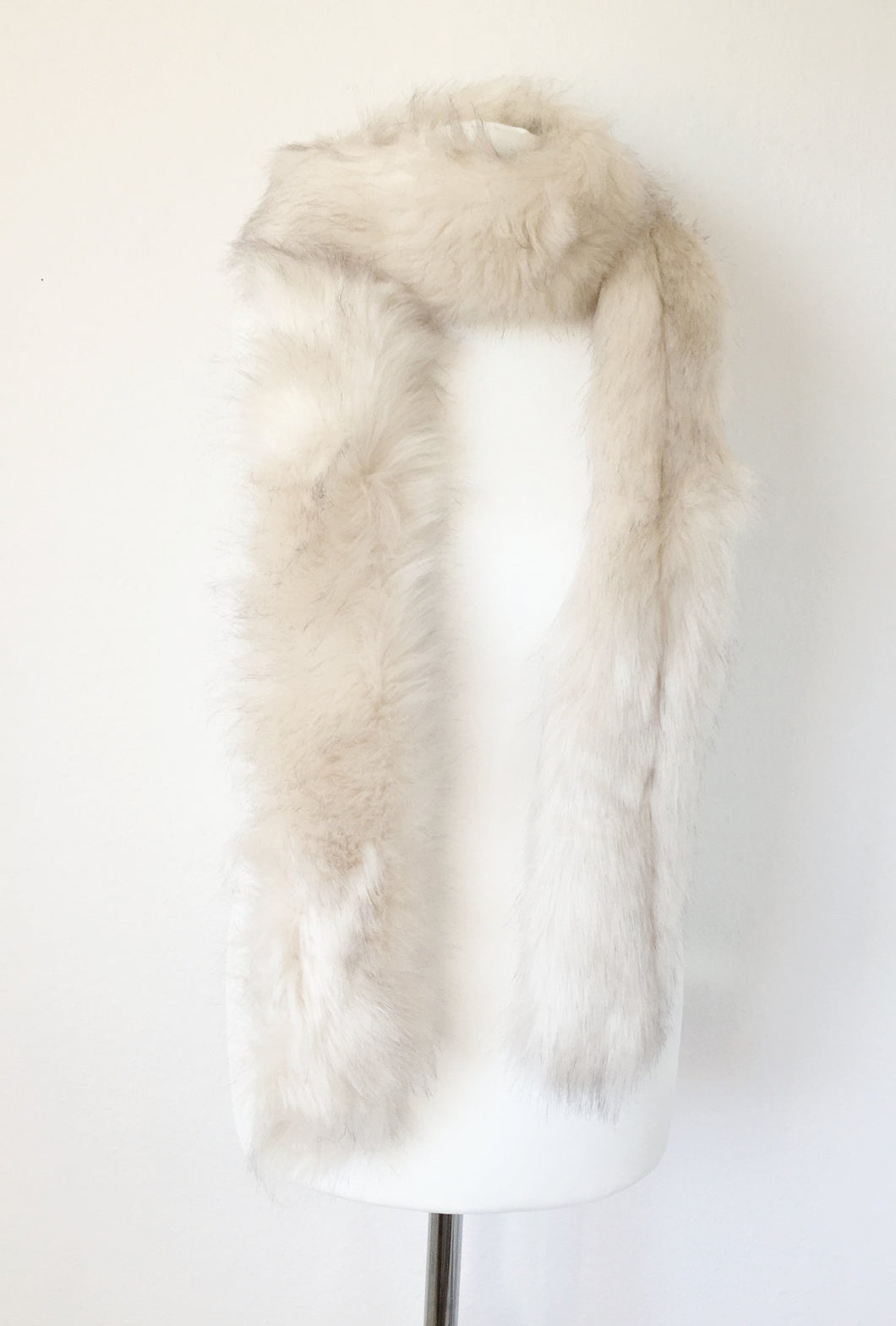 Cream Fur Scarf