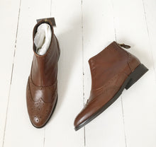 Brown Leather Chelsea Boot by Alpe