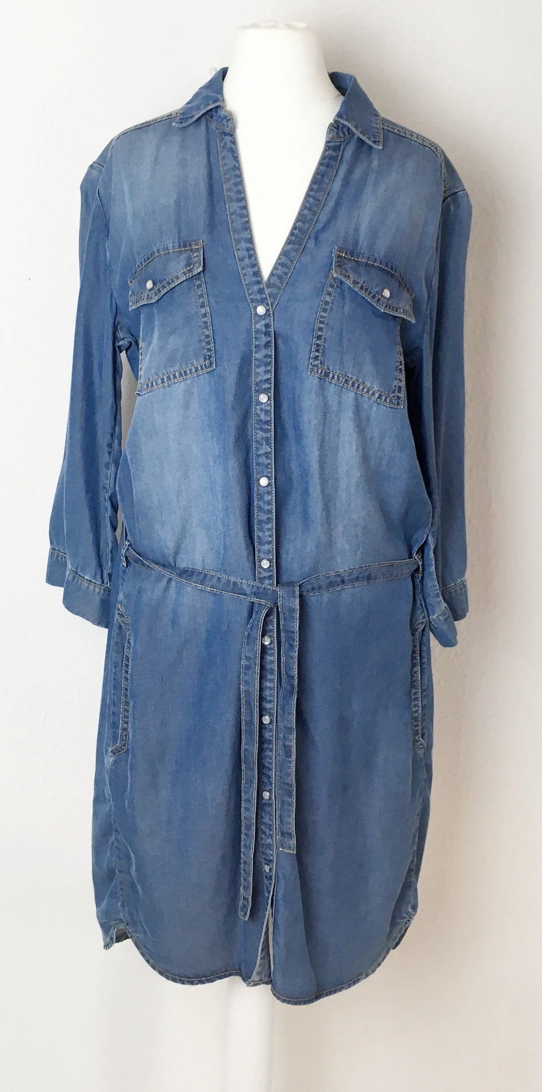 Soft Denim Shirt Dress