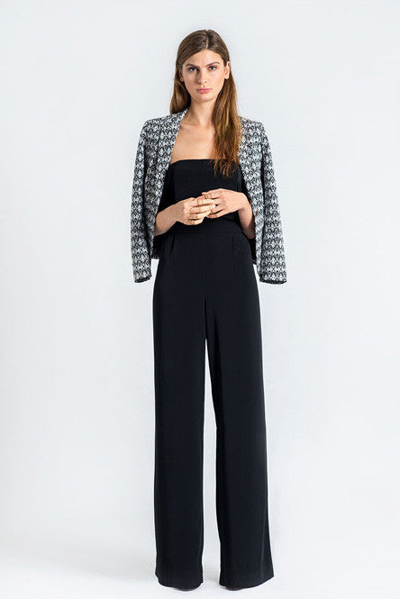 Silky Black Jumpsuit by FRNCH