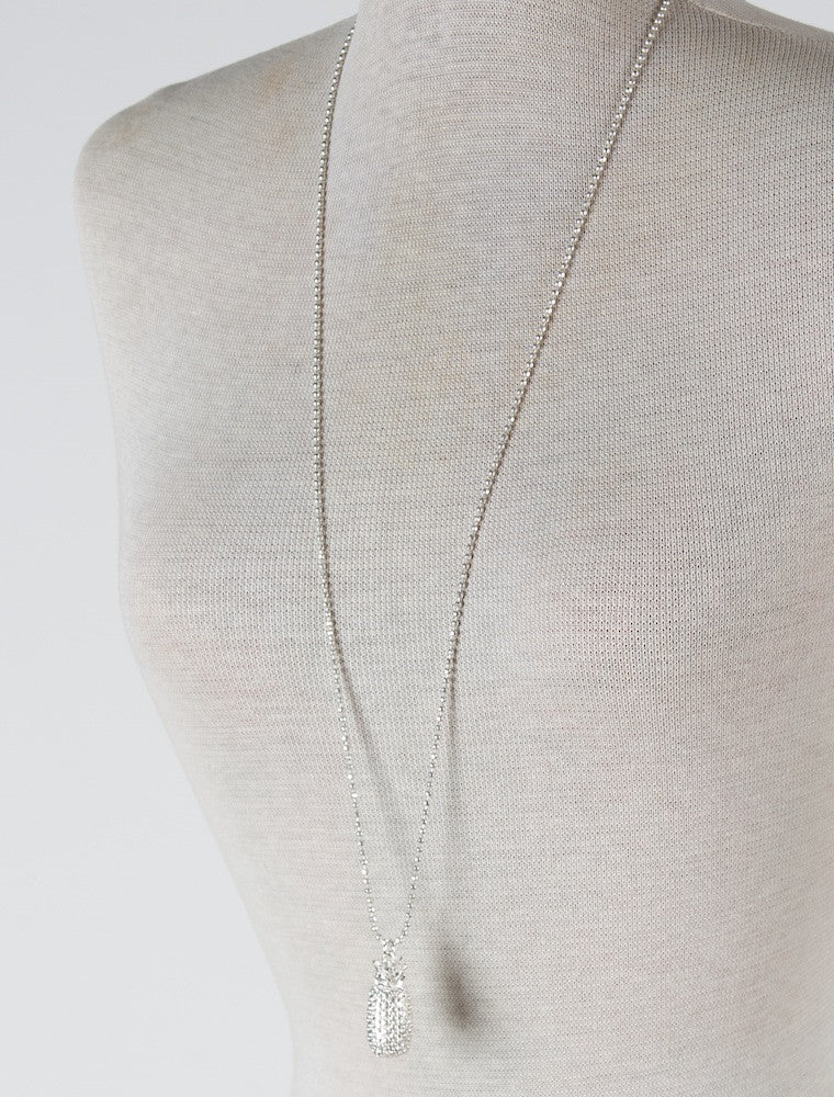 ROBYN PINEAPPLE NECKLACE IN SILVER by Olia