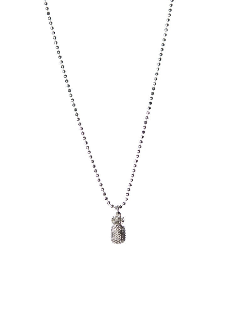 LOLA PINEAPPLE NECKLACE IN SILVER  by Olia