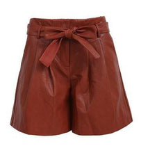 Brown High Waisted Long Shorts