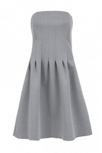 Grey Strapless Boned Dress