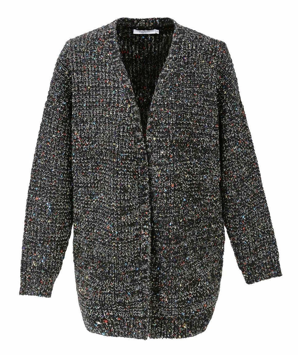 Mixed Wool Knitted 80s Cardigan Jacket
