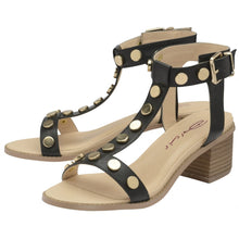 CLEMENCE BLOCK HEEL SANDALS BLACK by Dolcis