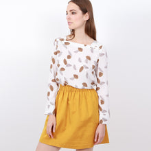 Pelmet Skirt in Mustard Yellow