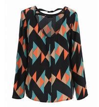 Black Geometric Print Top by FRNCH