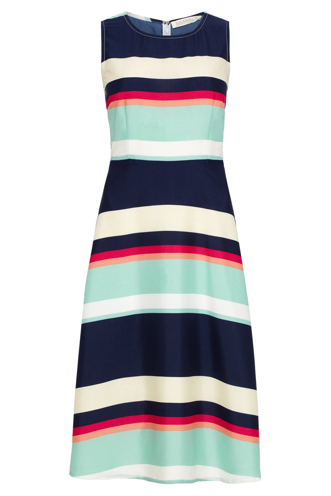 Sugarhill Boutique Striped Midi Liza Dress