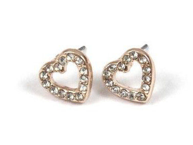 Love Heart Earrings in Gold