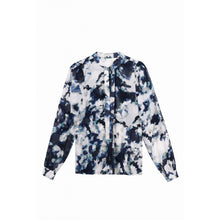 Abstract Blue & White Shirt