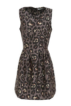 Grey Animal Print Skater Dress by FRNCH