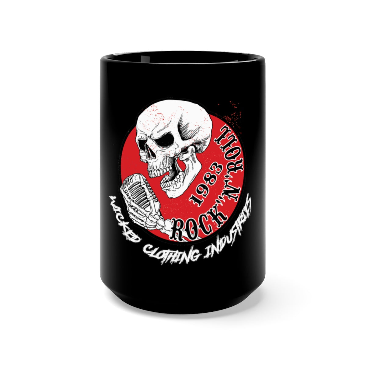 Black Mug 15oz 1983 ROCK N ROLL