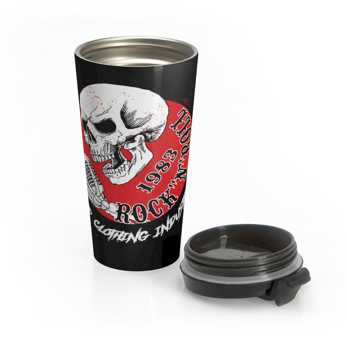 Stainless Steel Travel Mug 1983 ROCK N ROLL