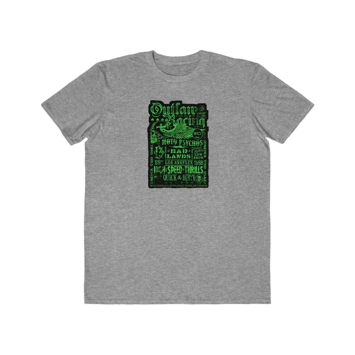 Outlaw Racing / Green/ Black/Faded/Men's Tee