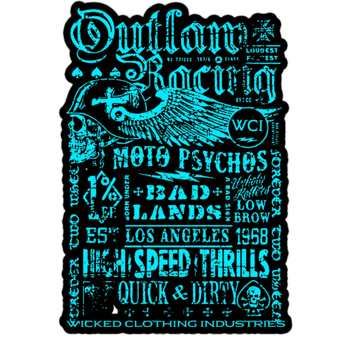 OUTLAW RACING/TEAL/BLACK/Microfiber Duvet Cover