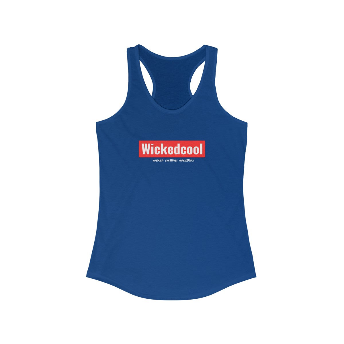 WickedCool/Red/Women's Racerback Tank
