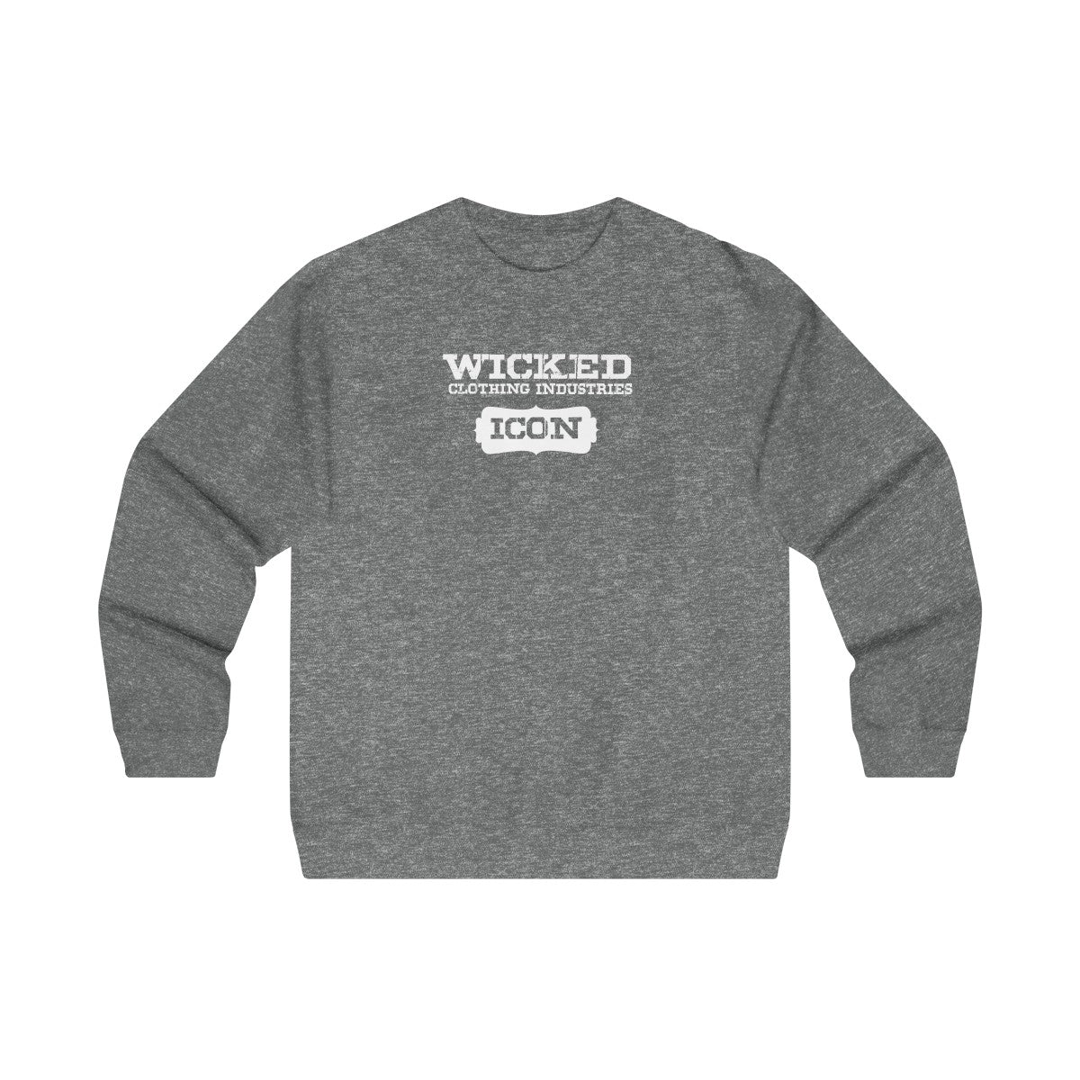 ICON/White/Men's Midweight Crewneck Sweatshirt
