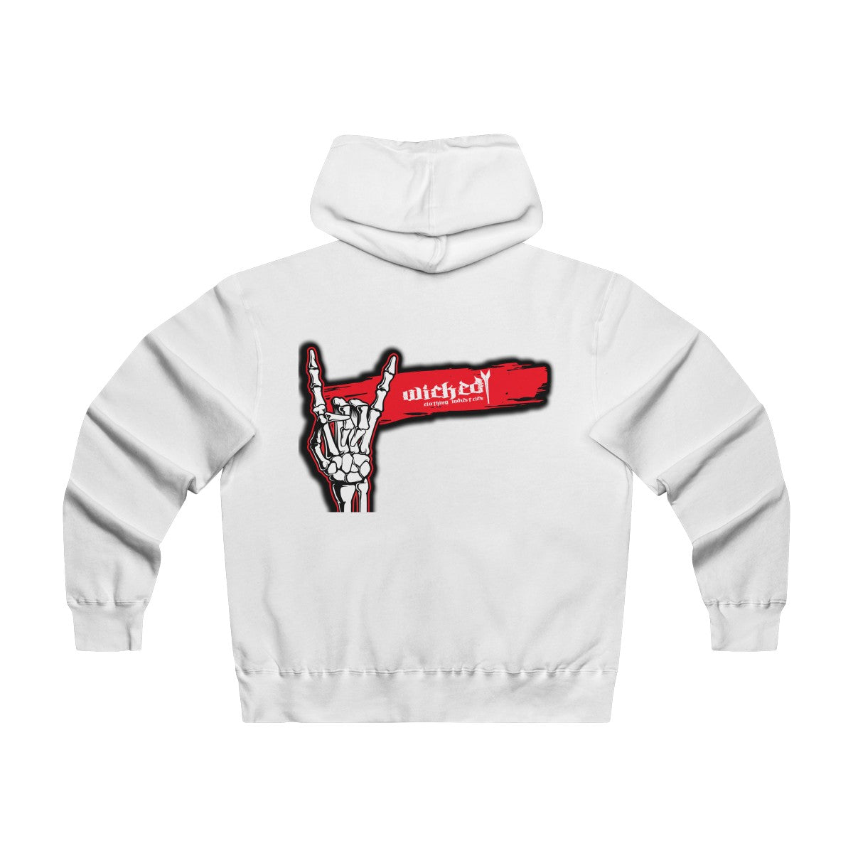 Salute To Rock N Roll/ Red and Black /White/Men's Lightweight Zip Hooded Sweatshirt
