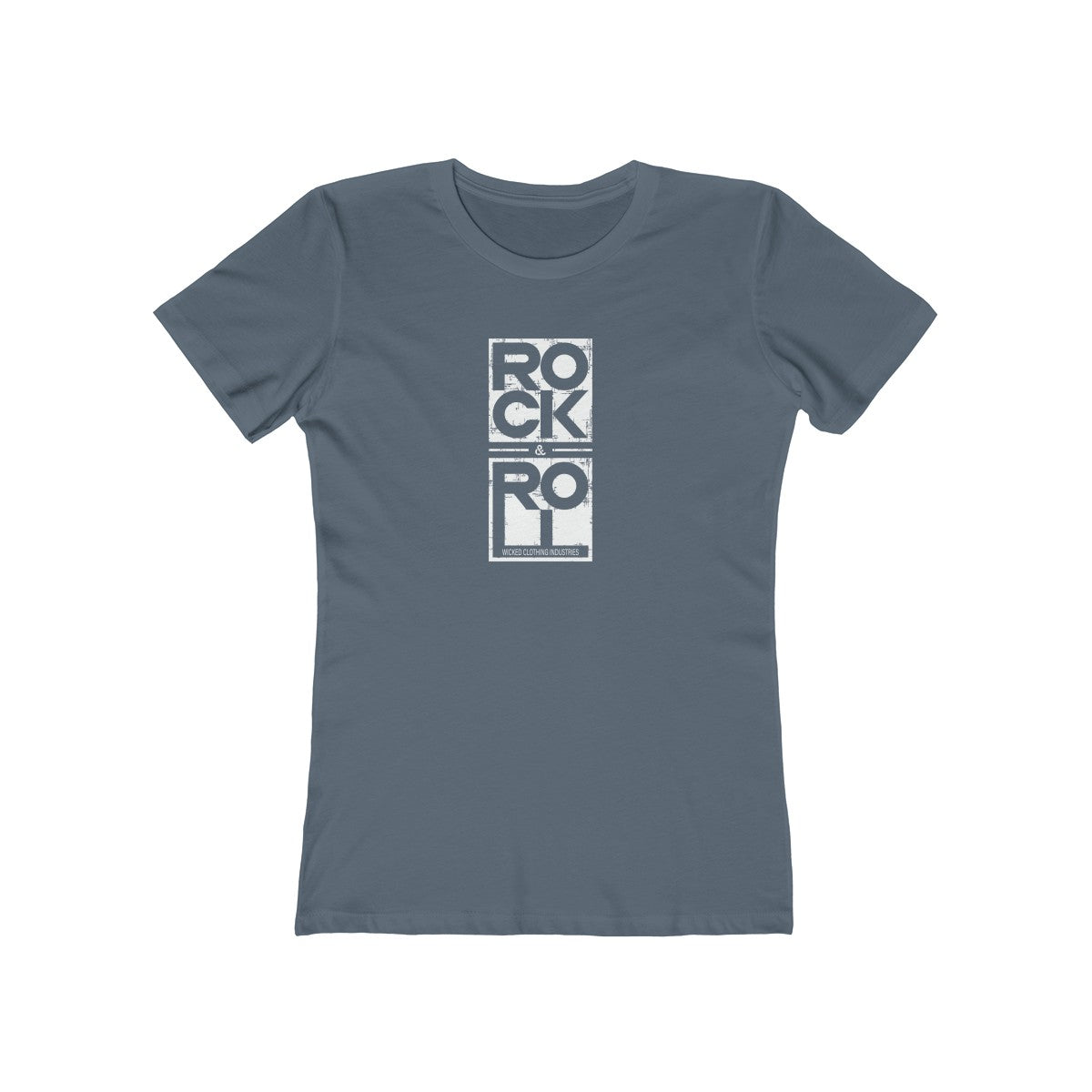 Rock & Roll/ White Square/Women's  Tee