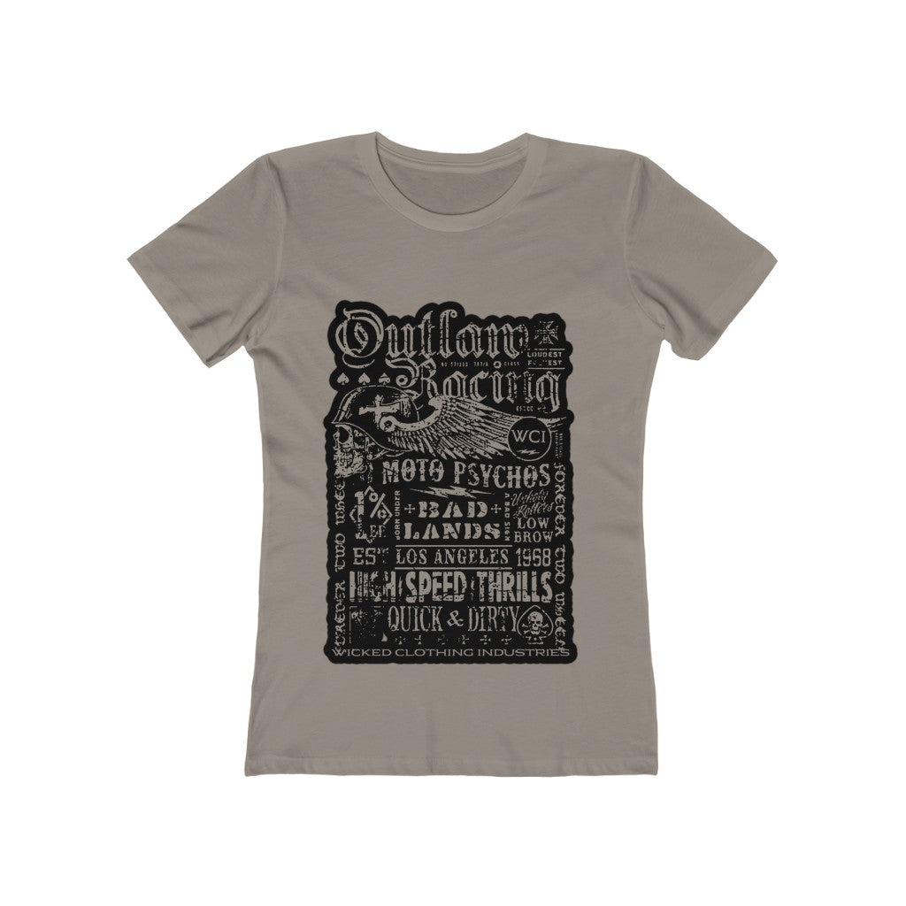Outlaw Teal Racing/Fade and Crackle/ Women's  Tee
