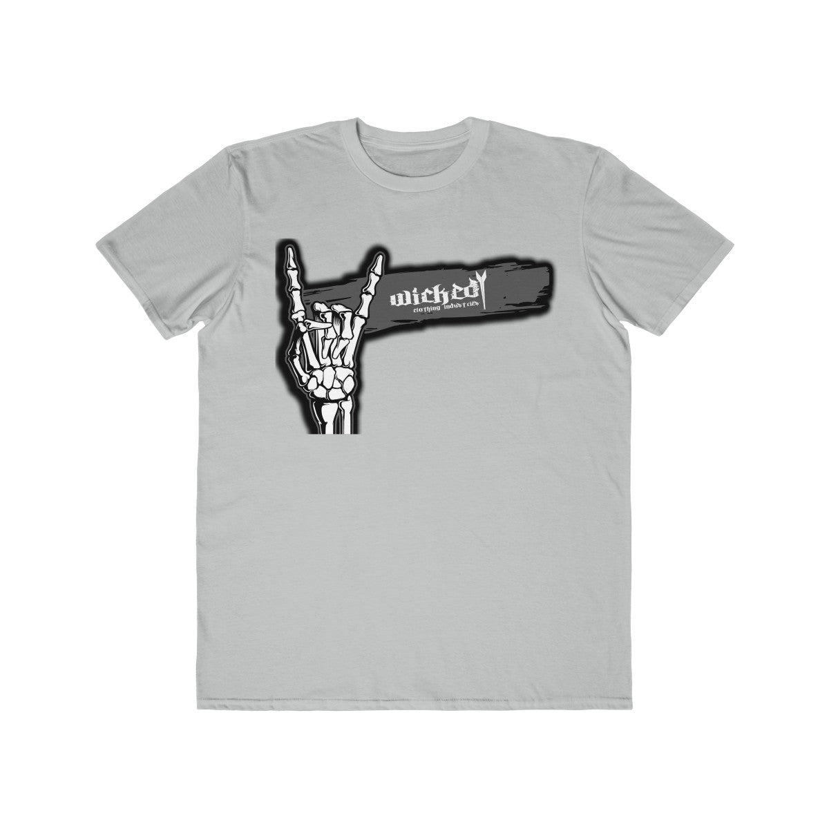 Salute To Rock N Roll/ Gray/Black/Men's Lightweight Tee