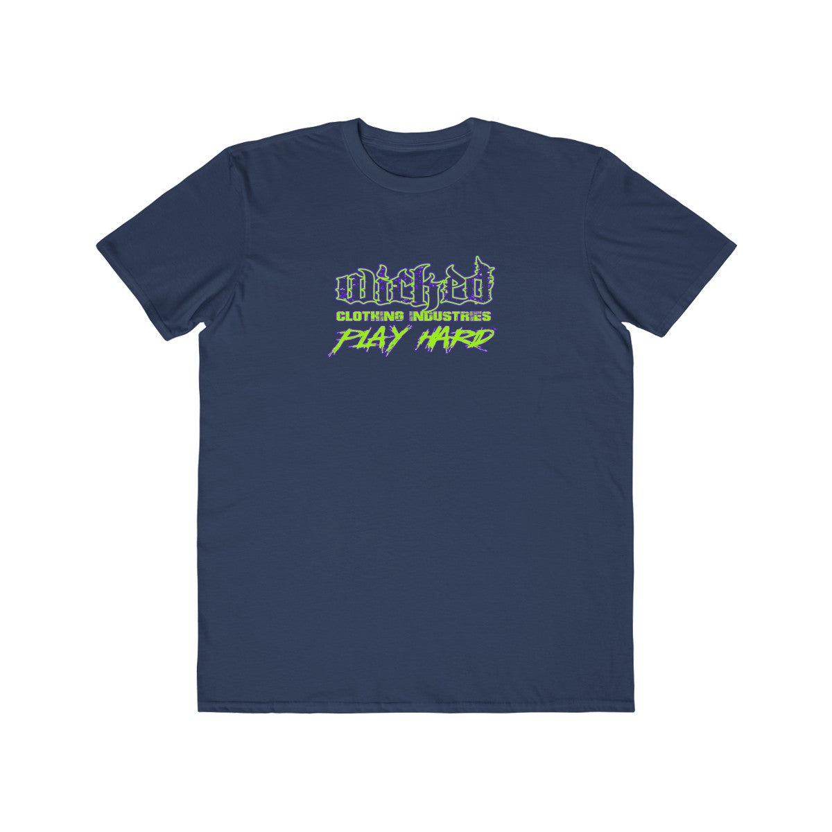 Play Hard/Neon Green/ Purple/Blue/Men's Lightweight  Tee