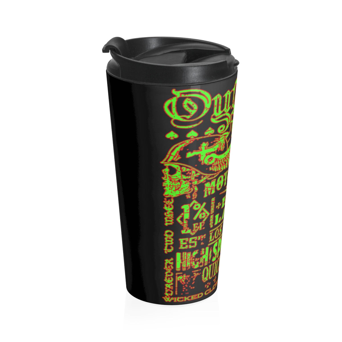 Outlaw Racing/ Green/Red Stainless Steel Travel Mug