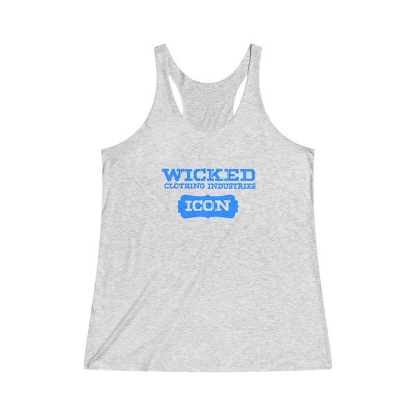 Icon /Blue Women's Tri-Blend Racerback Tank