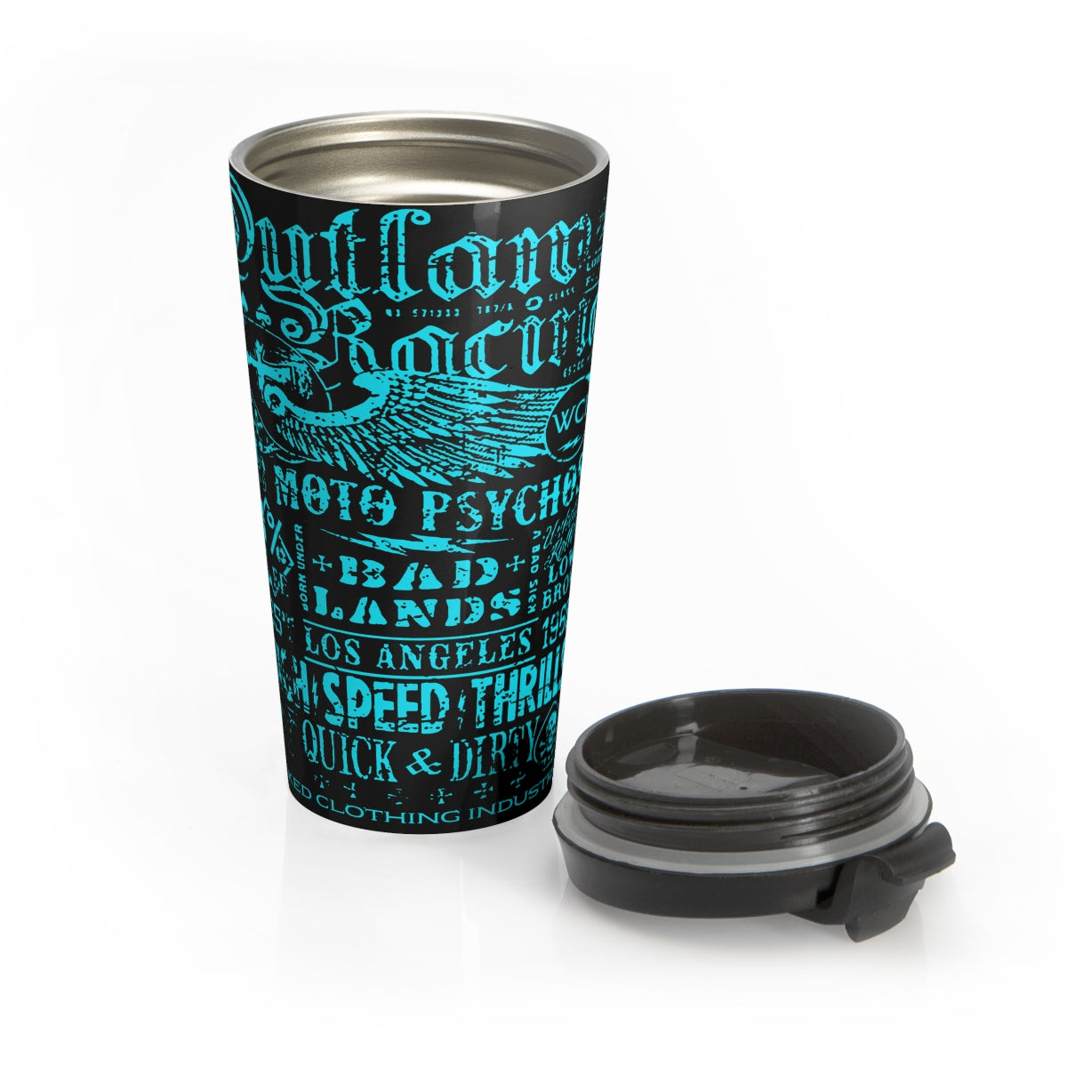 Outlaw Racing/Teal/Stainless Steel Travel Mug