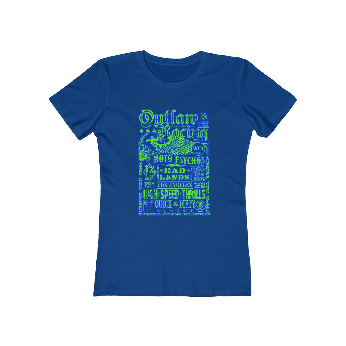 Outlaw Racing/ Green/Blue /Women's  Tee