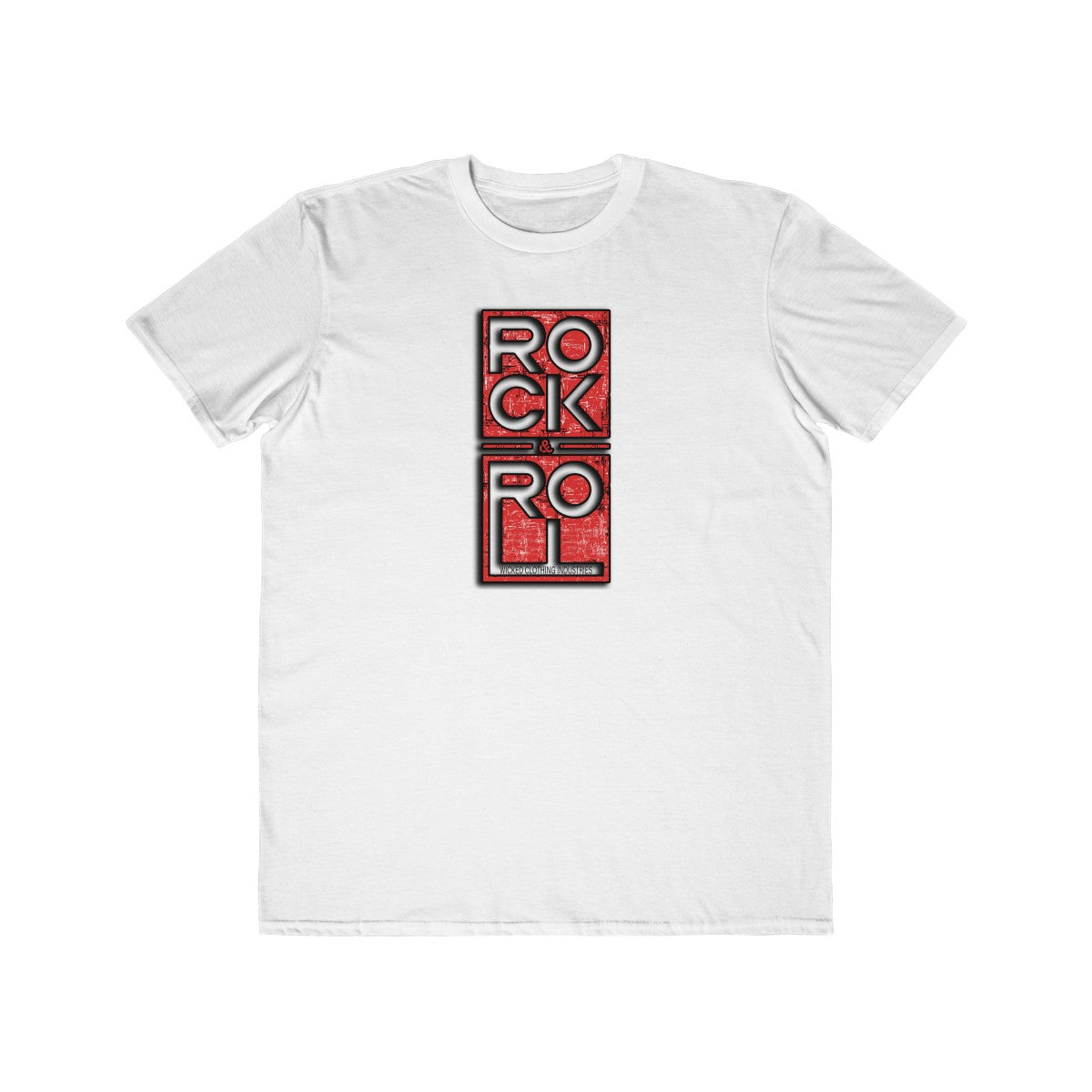 Rock & Roll/Red/Square/Black/Men's  Tee