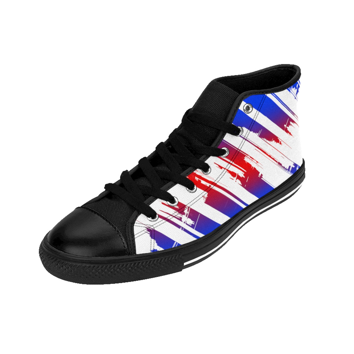The Edge Of Insanity / Blue & Red / Men's High-top Sneakers