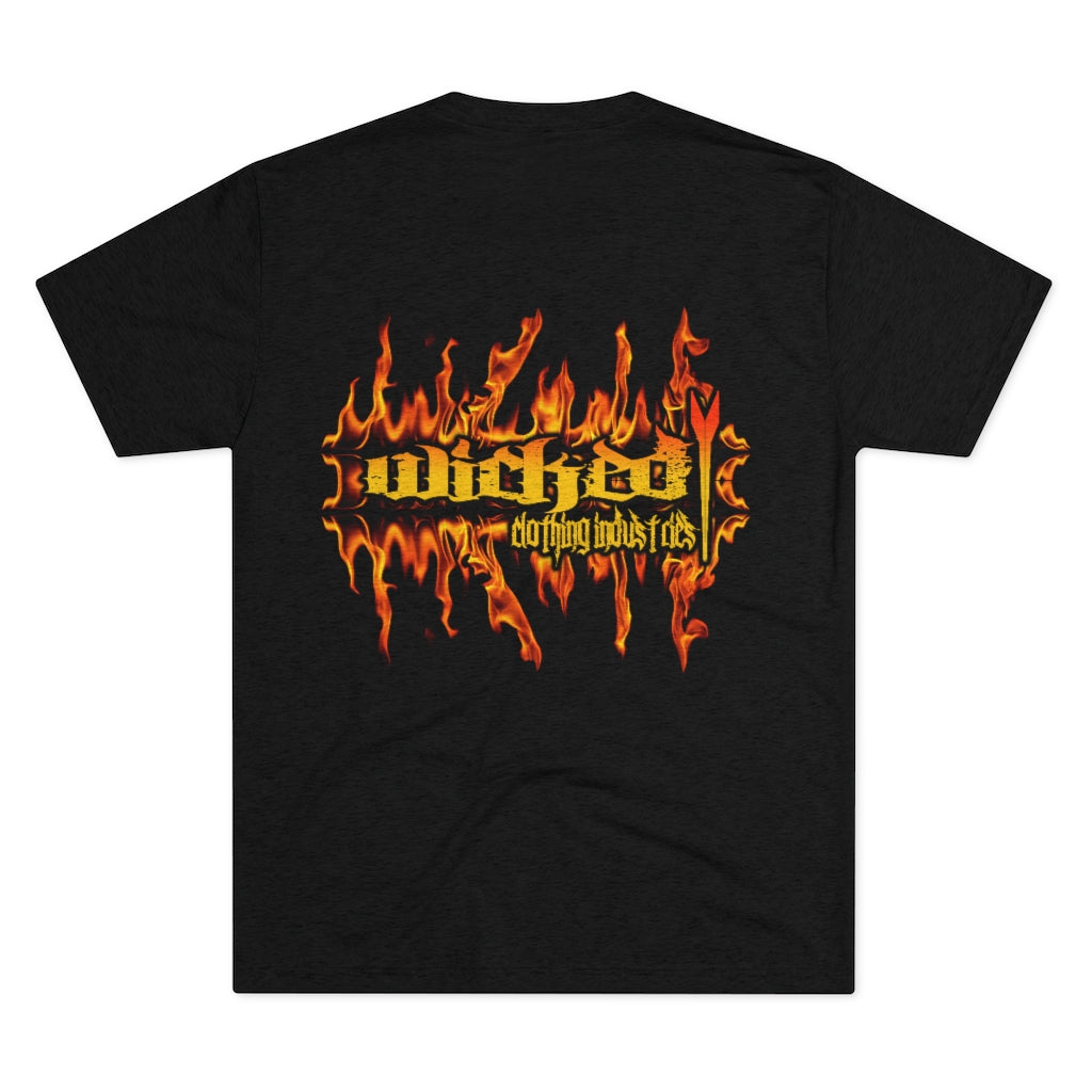 WCI/Wicked Flamed /Back/Men's Tri-Blend  Tee