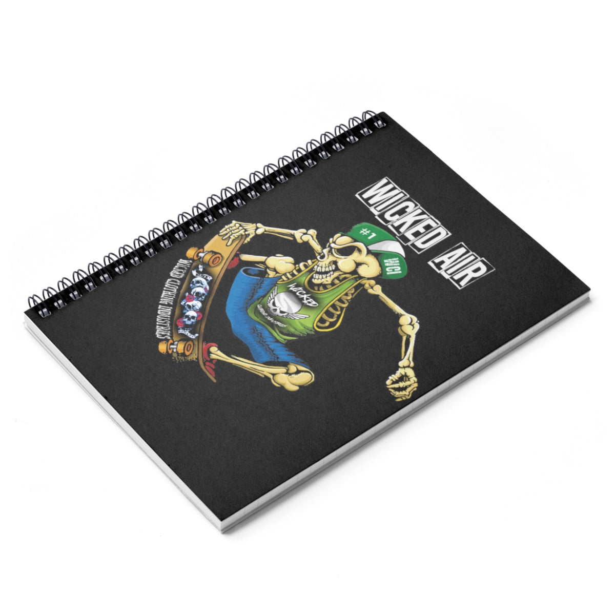 Spiral Notebook - Ruled Line WICKED AIR