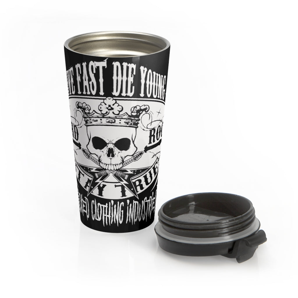 Hard Rock / Stay True /Stainless Steel Travel Mug