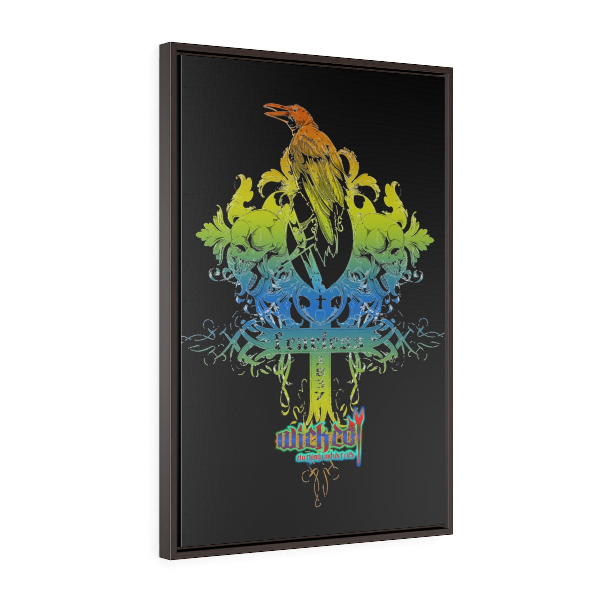 Fearless 2 /Vertical Framed  Wrap Canvas