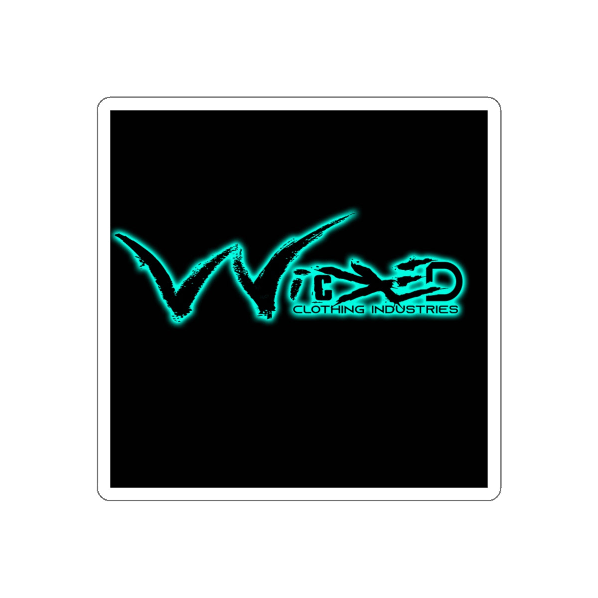 Wicked Grind Teal & Black Sticker