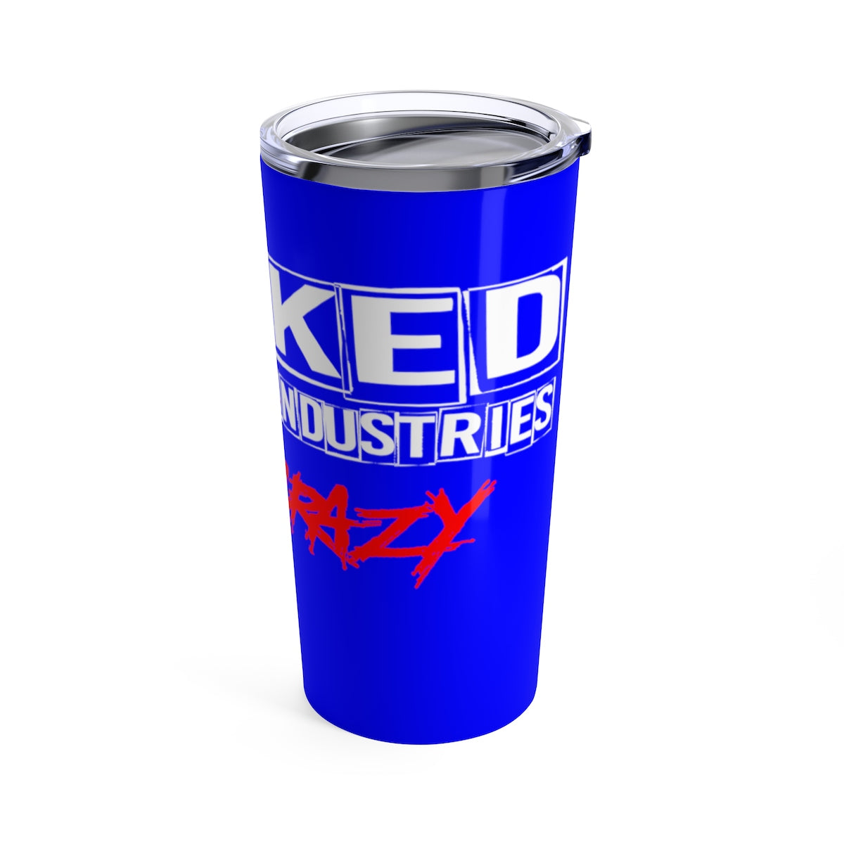 Tumbler 20oz GOING CRAZY ROYAL BLUE AND RED