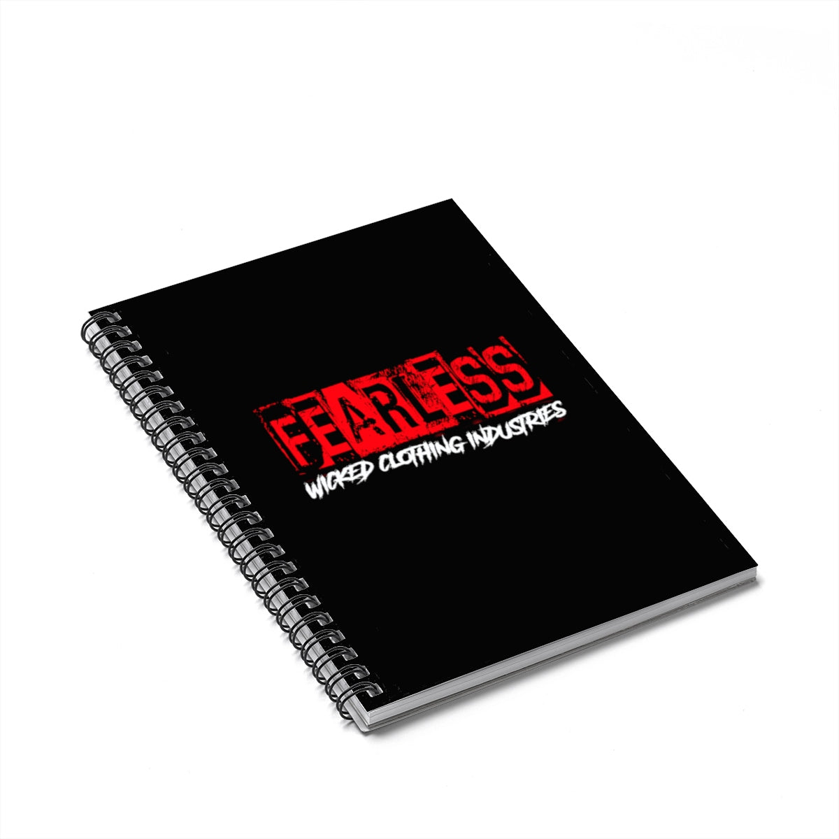 FEARLESS/ RED/Spiral Notebook - Ruled Line