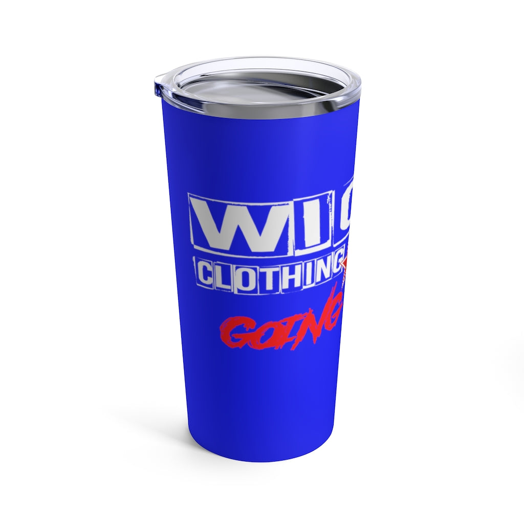Going Crazy/ Royal Blue/Red/White/Tumbler 20oz