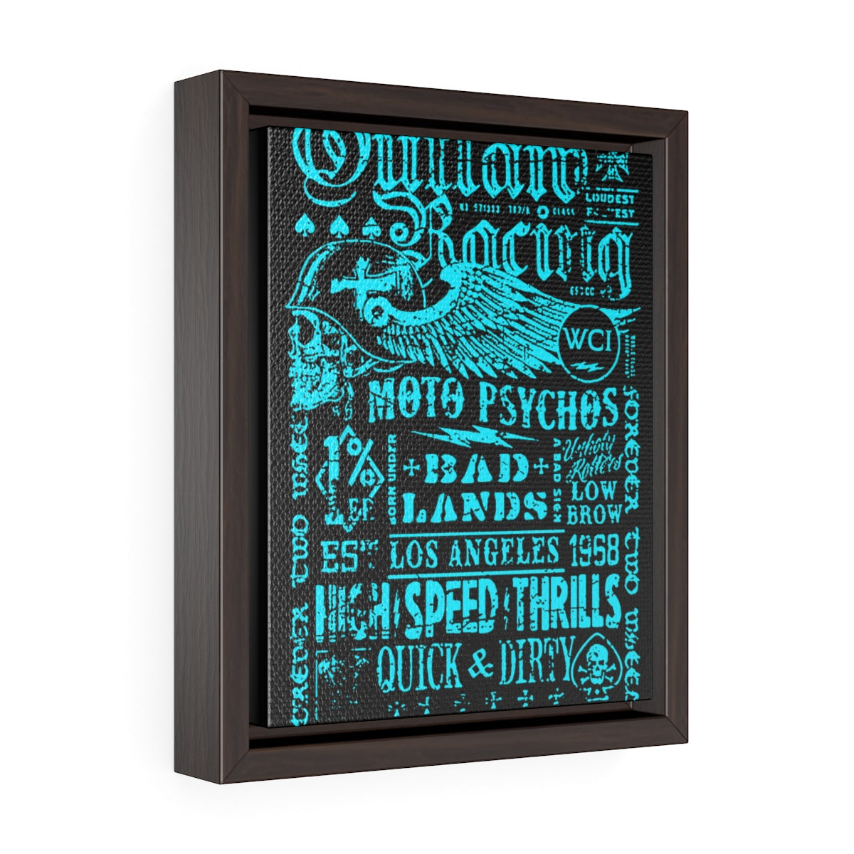 Outlaw Racing /Vertical FramedWrap Canvas
