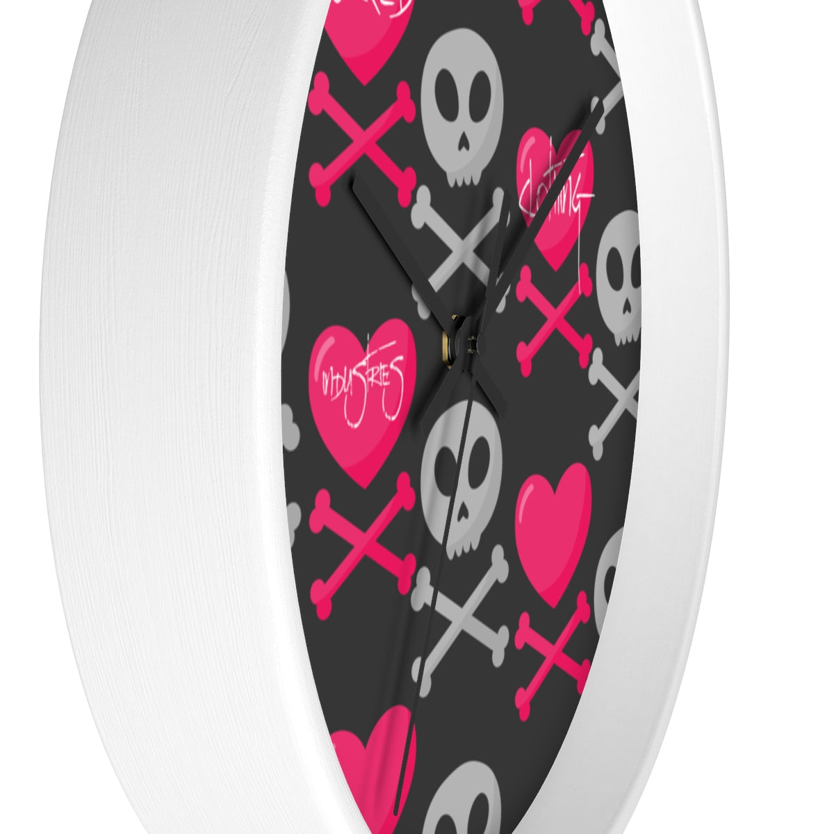 Love & Skulls Wall clock
